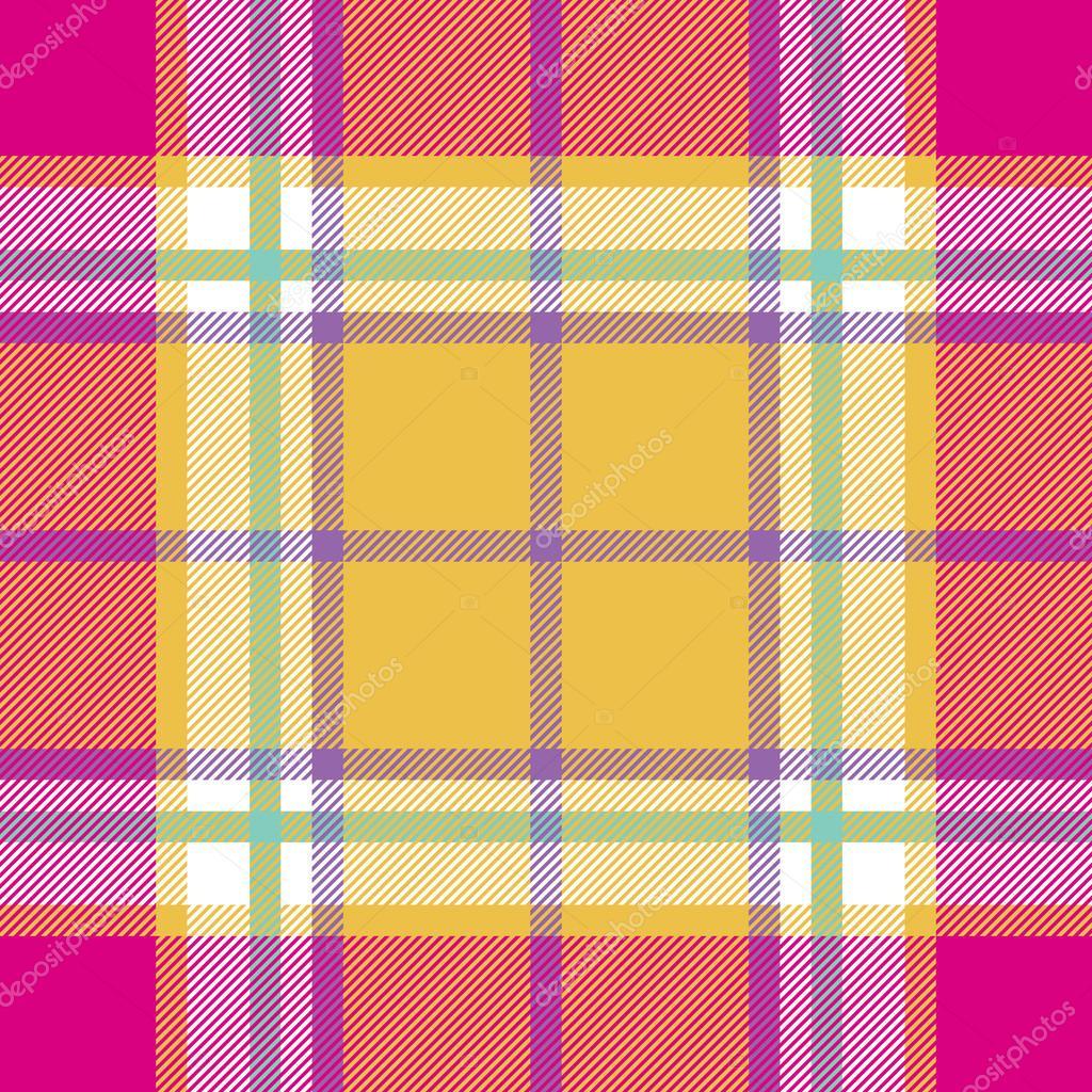 patrón transparente de la textura de tela madras India rosa amarillo ...