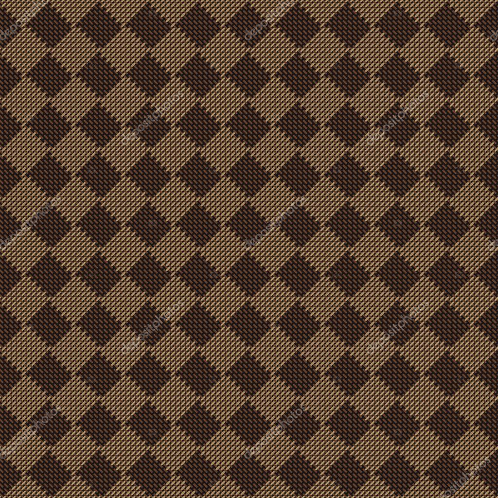 bf6ef096b0a5 Диагональ квадрата коричневый бежевый бесшовные ткани текстуры шаблон  векторные иллюстрации. Трикотаж диагональ ткань — Вектор от ankmsn