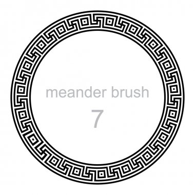 frame round ornament meander