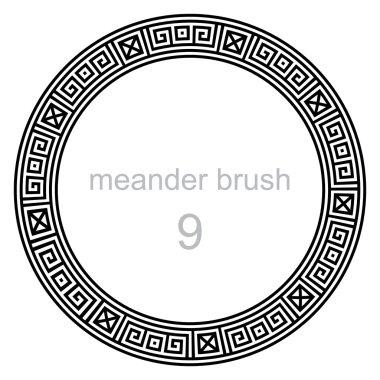 ancient meander pattern round