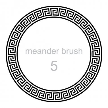 round ornament meander pattern