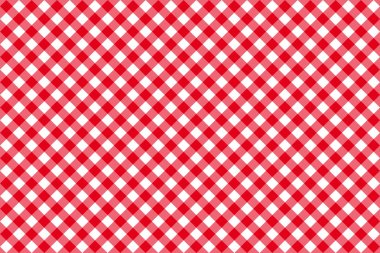diagonal red tablecloth seamless pattern