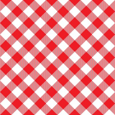 red tablecloth diagonal seamless pattern