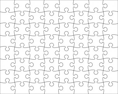 Jigsaw Puzzle template editable blend