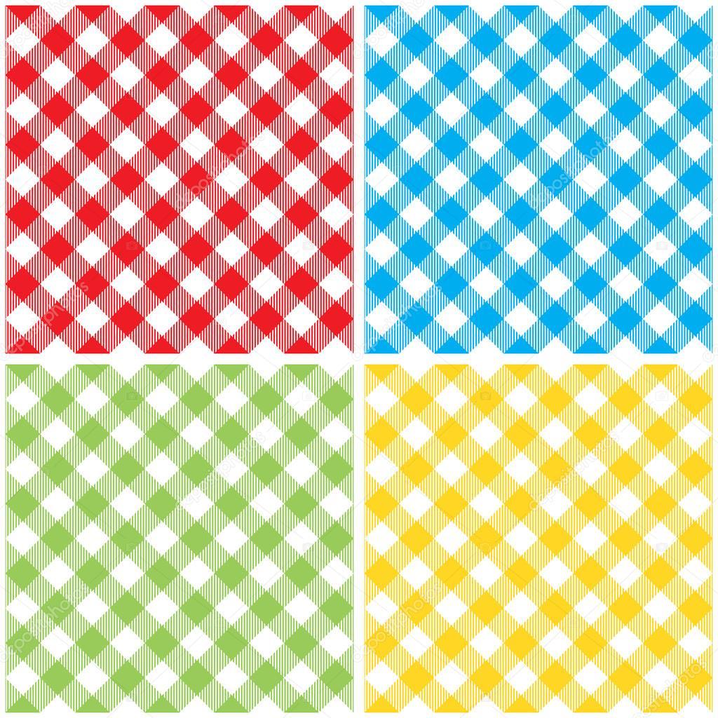 a02bec396430 Modello senza cuciture diagonali Set tovaglia a quadretti colorati.  Illustrazione vettoriale di percalle tradizionale Intrattenimenti panno con  struttura ...