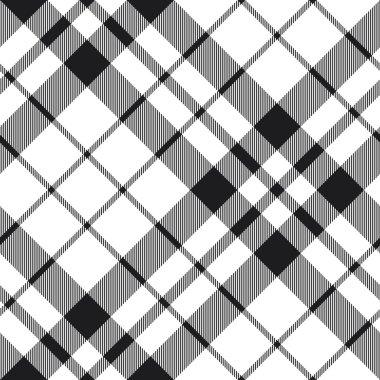 Hibernian fc tartan black and white plaid diagonal pattern seaml