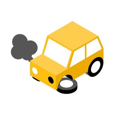 Yellow car crash
