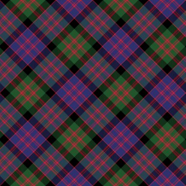 Macdonald tartan kilt fabric diagonal texture background seamles
