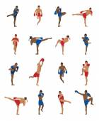 Photo Vector set of thai boxing