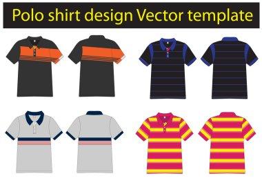 Polo shirts design templates