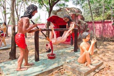 Korkunç Budist heykeller
