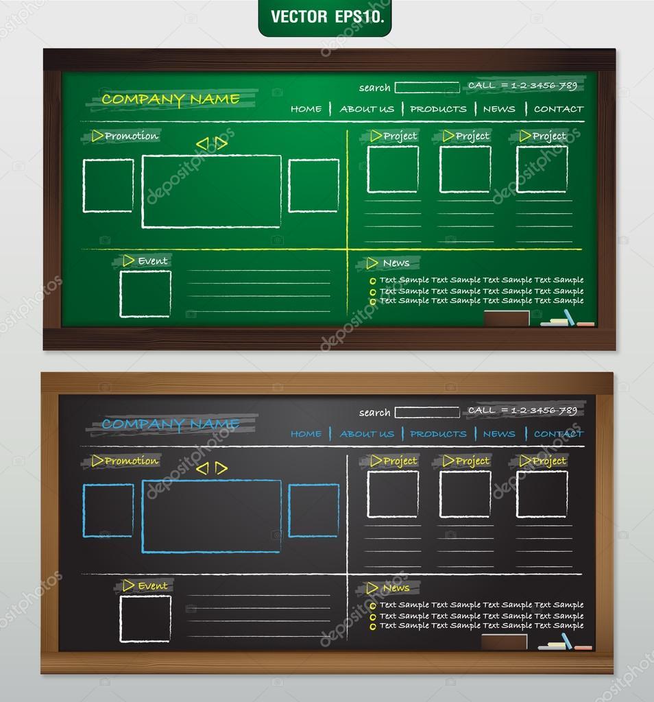 blackboard website templates stock photo koydesign 61260813