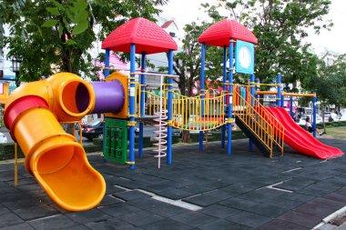 Colorful plastic playground