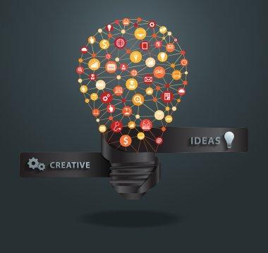 Lightbulb business infographic