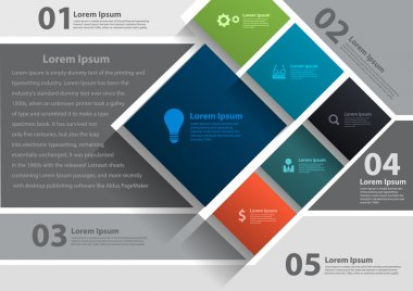 Vector layout template design