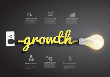 Growth concept creative light bulb idea