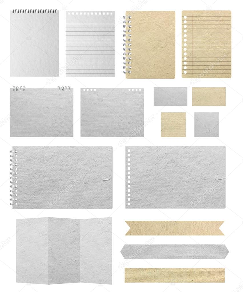 Paper textures background isolated on white stock photo paper textures background isolated on white background save paths for design work paper sheets lined paper note paper calendar business card reheart Image collections