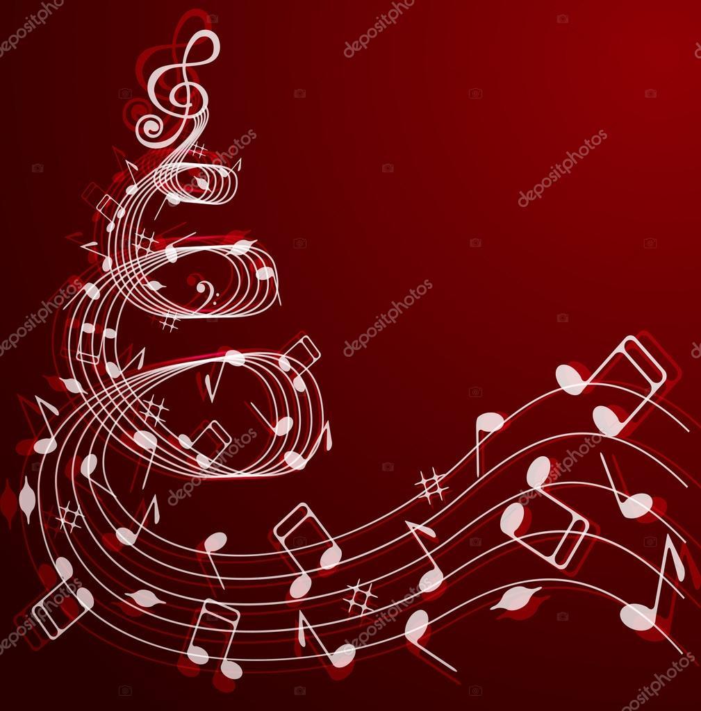 Musical Christmas tree . — Stock