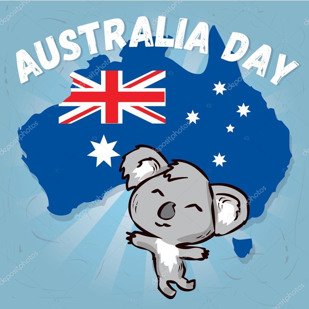 открытка день австралии бессюжетных
