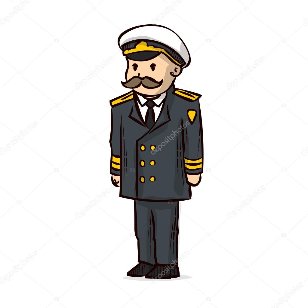 Images: naval officer cartoon | Cartoon Naval officer. Admiral ...