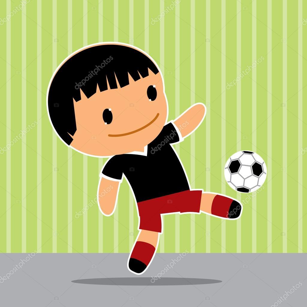 Joueur De Football De Kawaii Image Vectorielle Dergriza