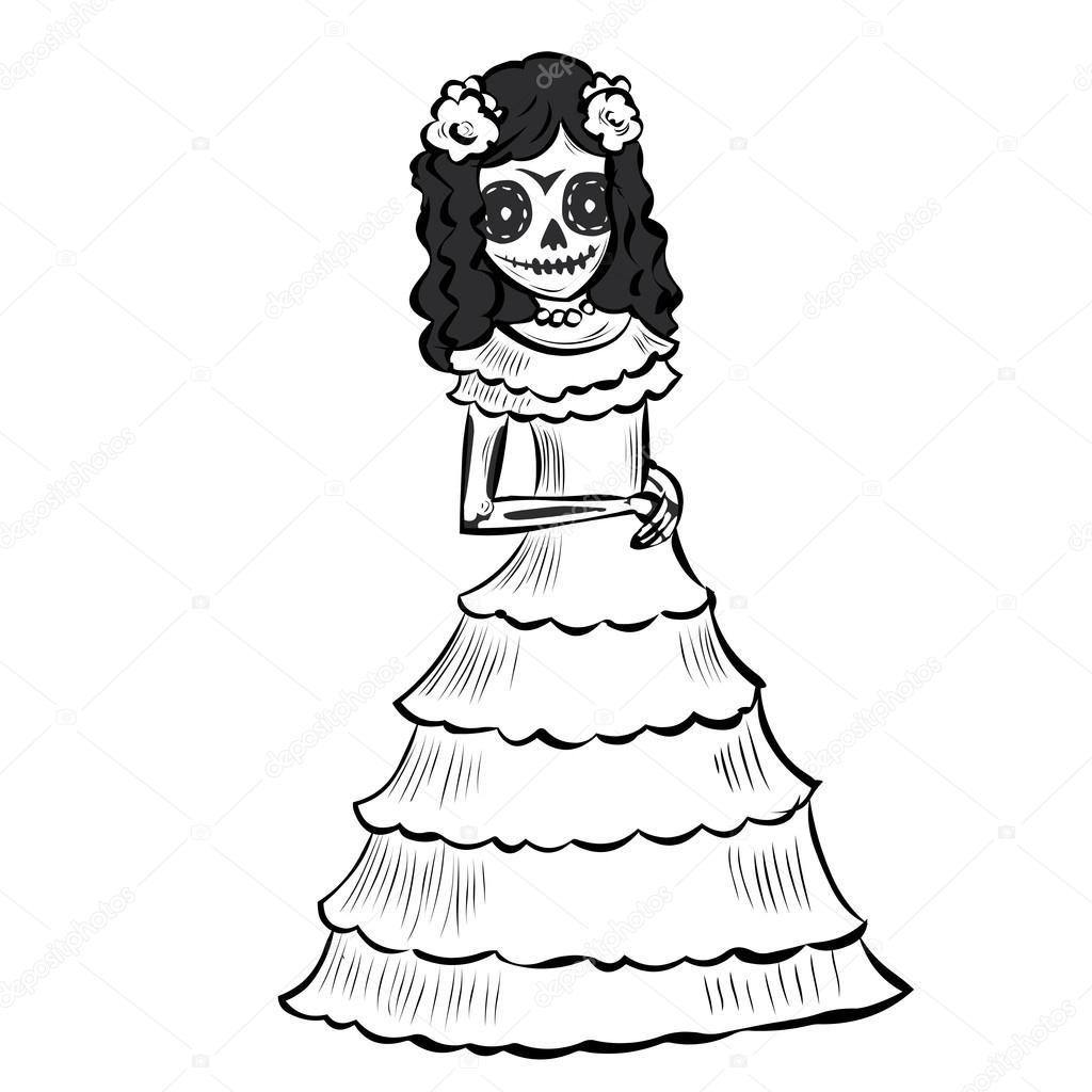 Vestido De Catrina Buscar Con Google Dia De Los Muertos