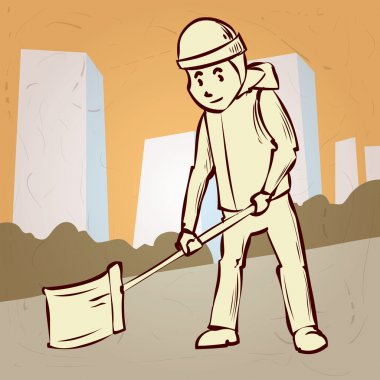 Street Sweeper at Work