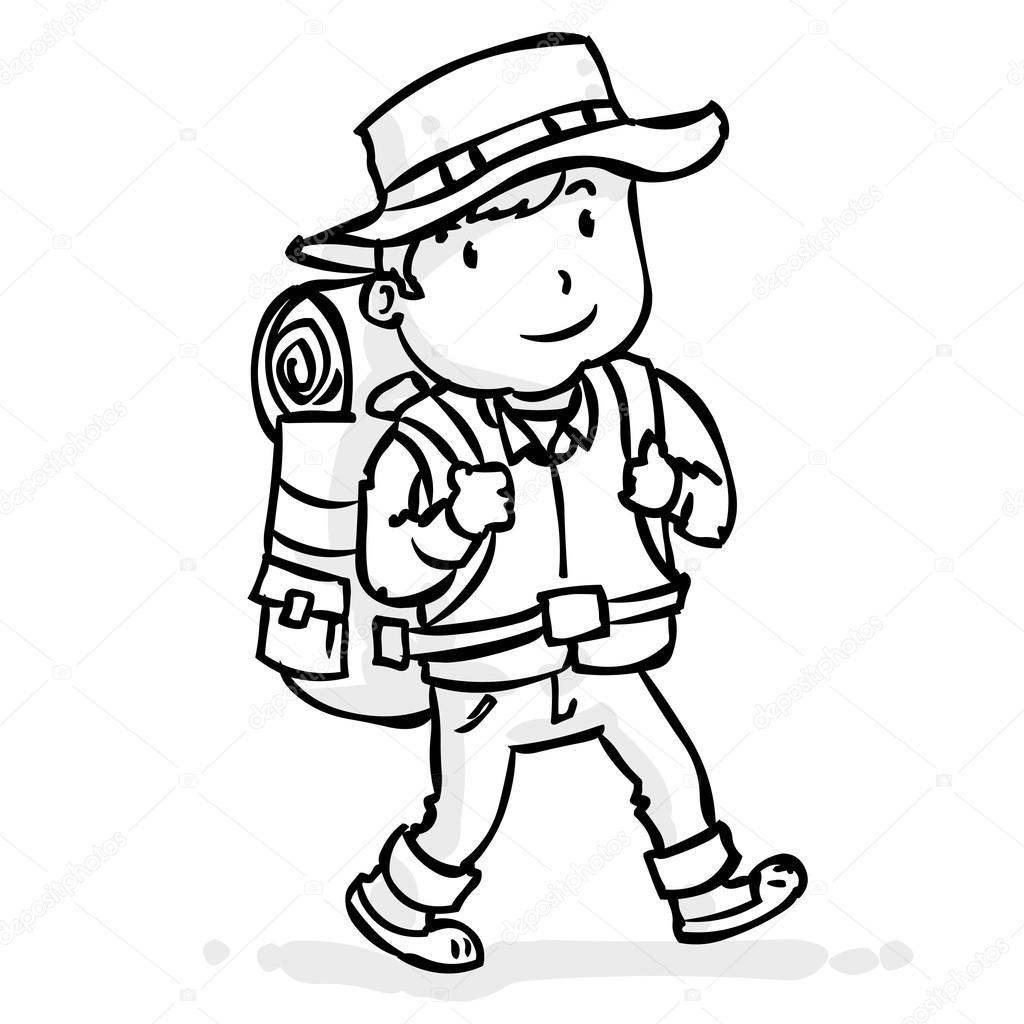 voyageur exp u00e9riment u00e9 avec un sac  u00e0 dos image vectorielle mountain hiker clipart hiker clip art free