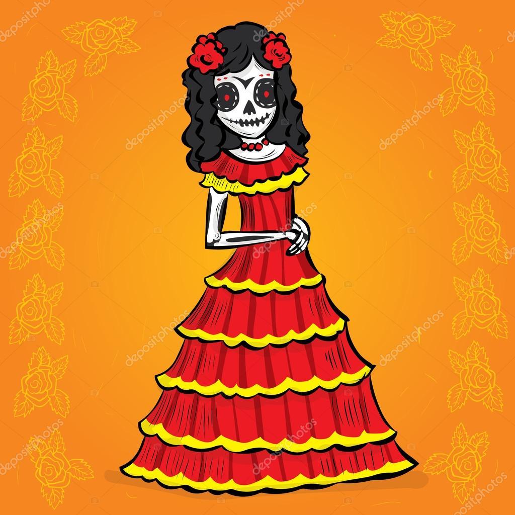 La Calavera Catrina. Mexican tradition — Stock Vector © dergriza ...