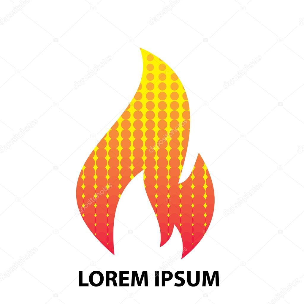 Fire Flame logo design template. — Stock Vector © dergriza #107832706