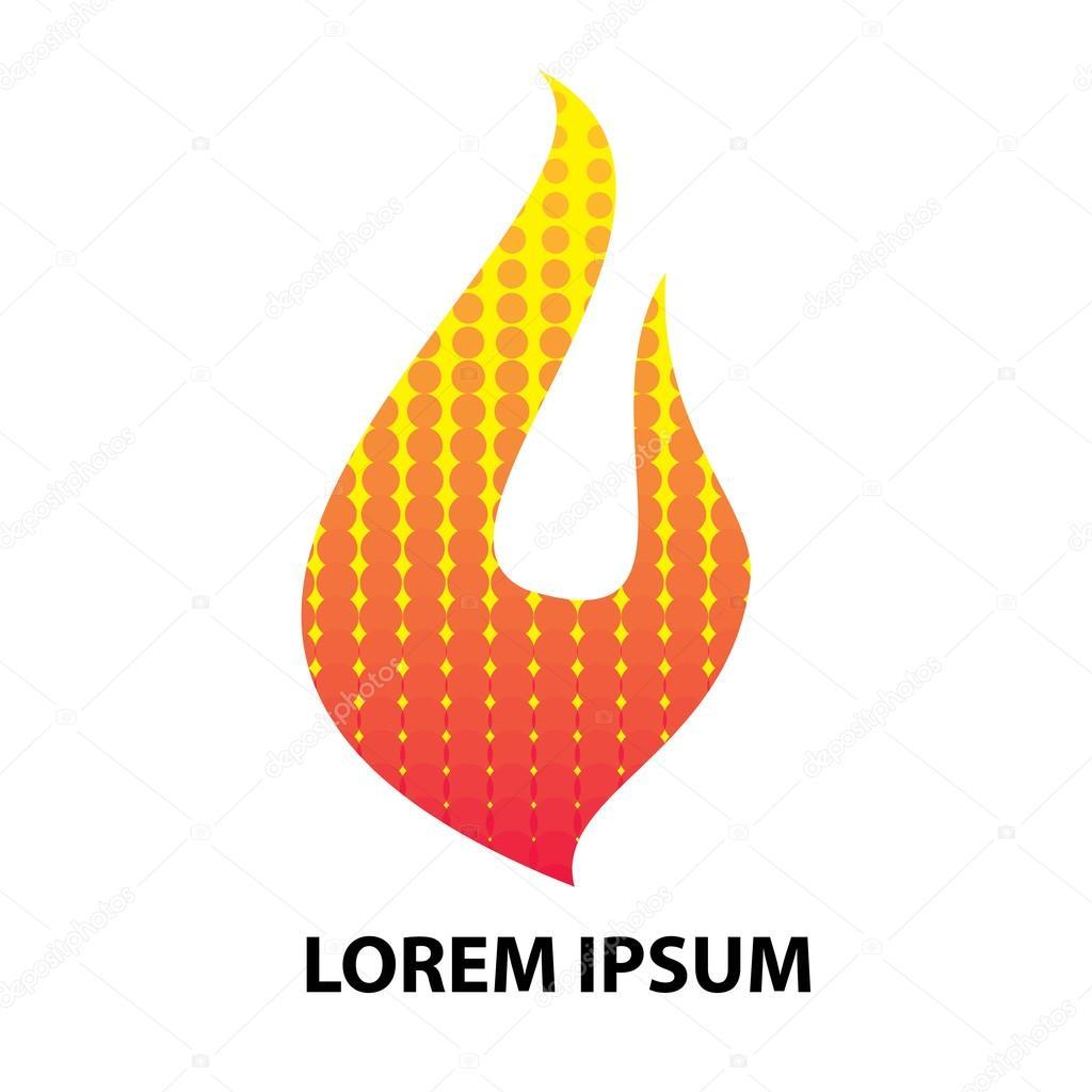 Fire Flame logo design template. — Stock Vector © dergriza #107833326