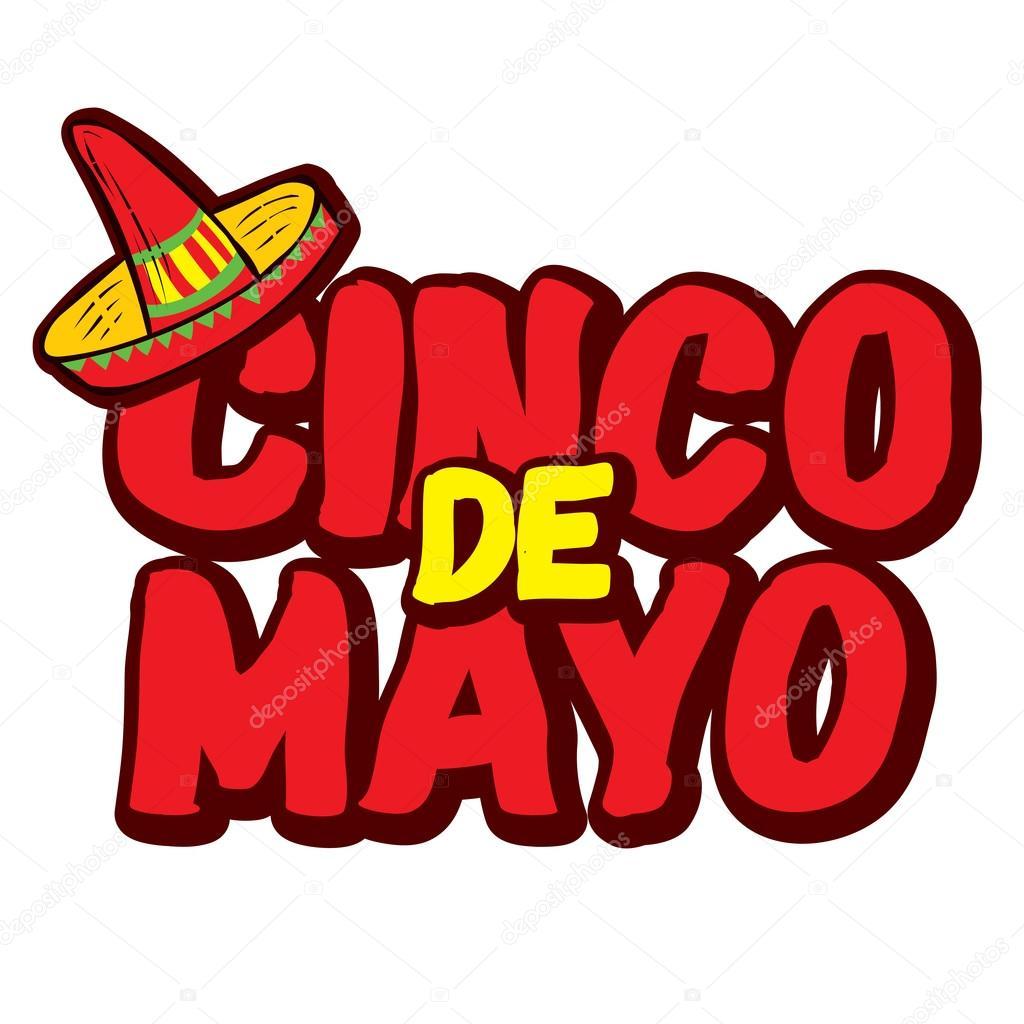 Cinco De Mayo Hand Getekende Letters Stockvector Dergriza 107834374
