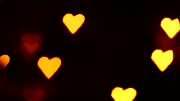 Valentinky den, blikající srdce, pozadí