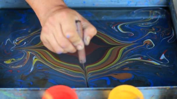 Ebru Painting Stock Video C Bonitovideo 83956650