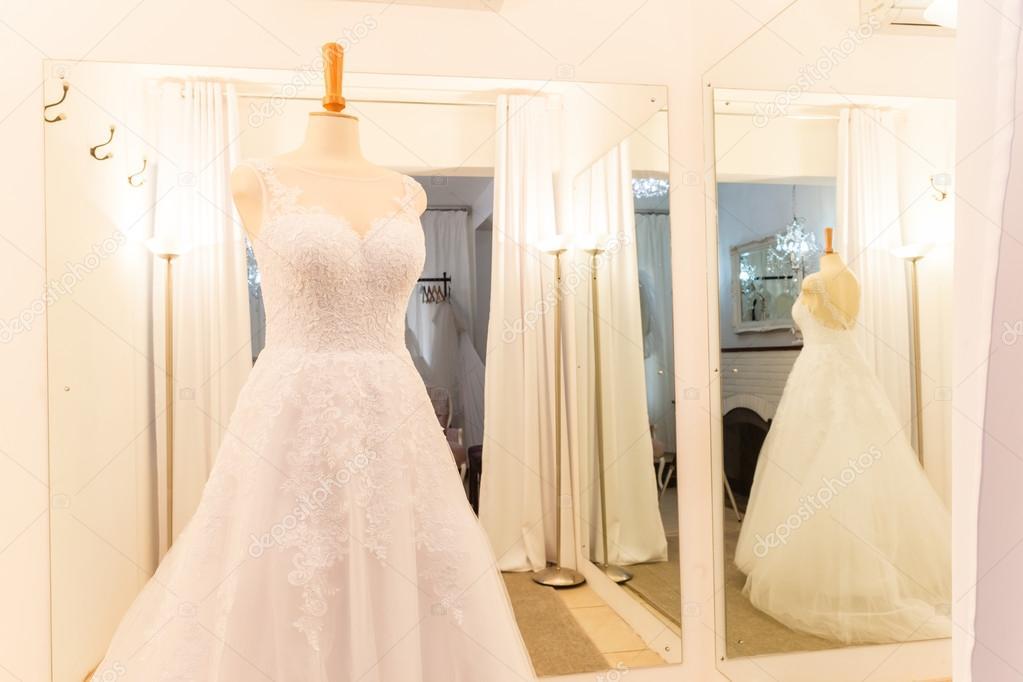 Wedding Shop Dresses Decor Designs Stock Photo
