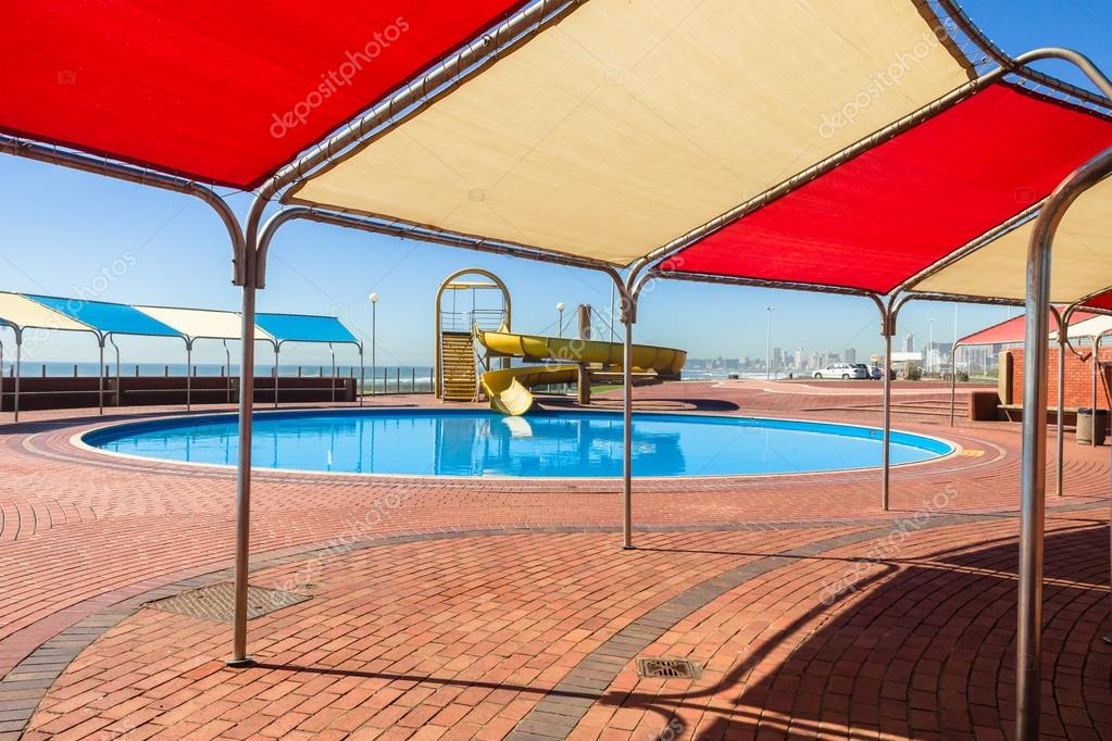 Pool Slide Shade Covering