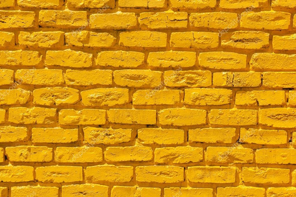 Brick Wall Yellow — Stock Photo © ChrisVanLennepPhoto #99166430