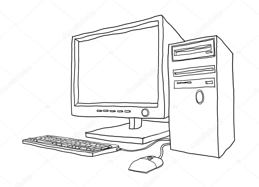 Imágenes Computadoras De Escritorio Para Colorear Computadora De