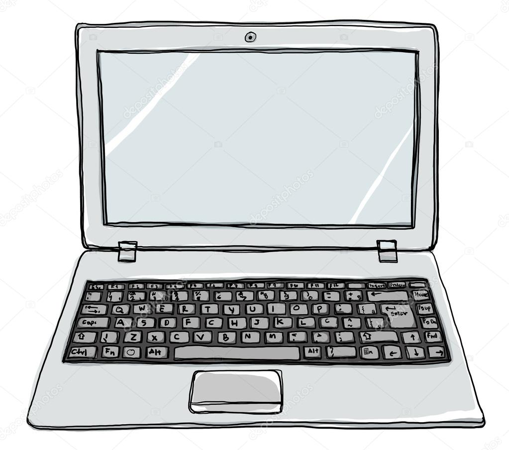 Dizüstü Dizüstü Bilgisayar Sevimli Boyama Stok Foto Gmm2000