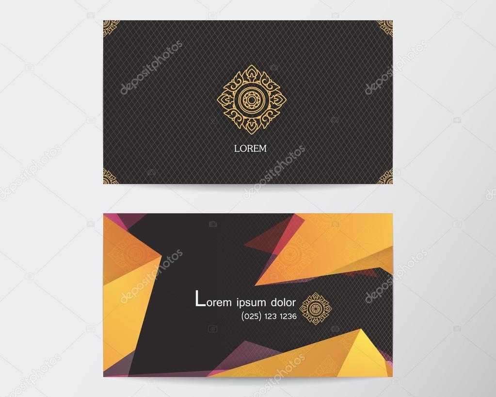card design template abstract creative Thai style