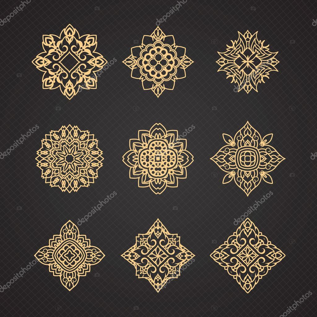Vector set of thai art design