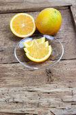 Photo Orange fruit sliced