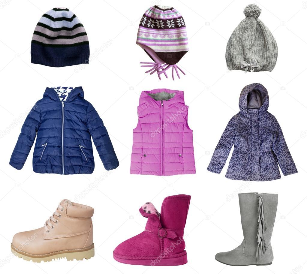 c828a357e872 Fotos: prendas de invierno   Ropa de niño niña invierno collage ...
