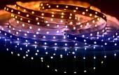 Photo Led shining diode lights. Strip.