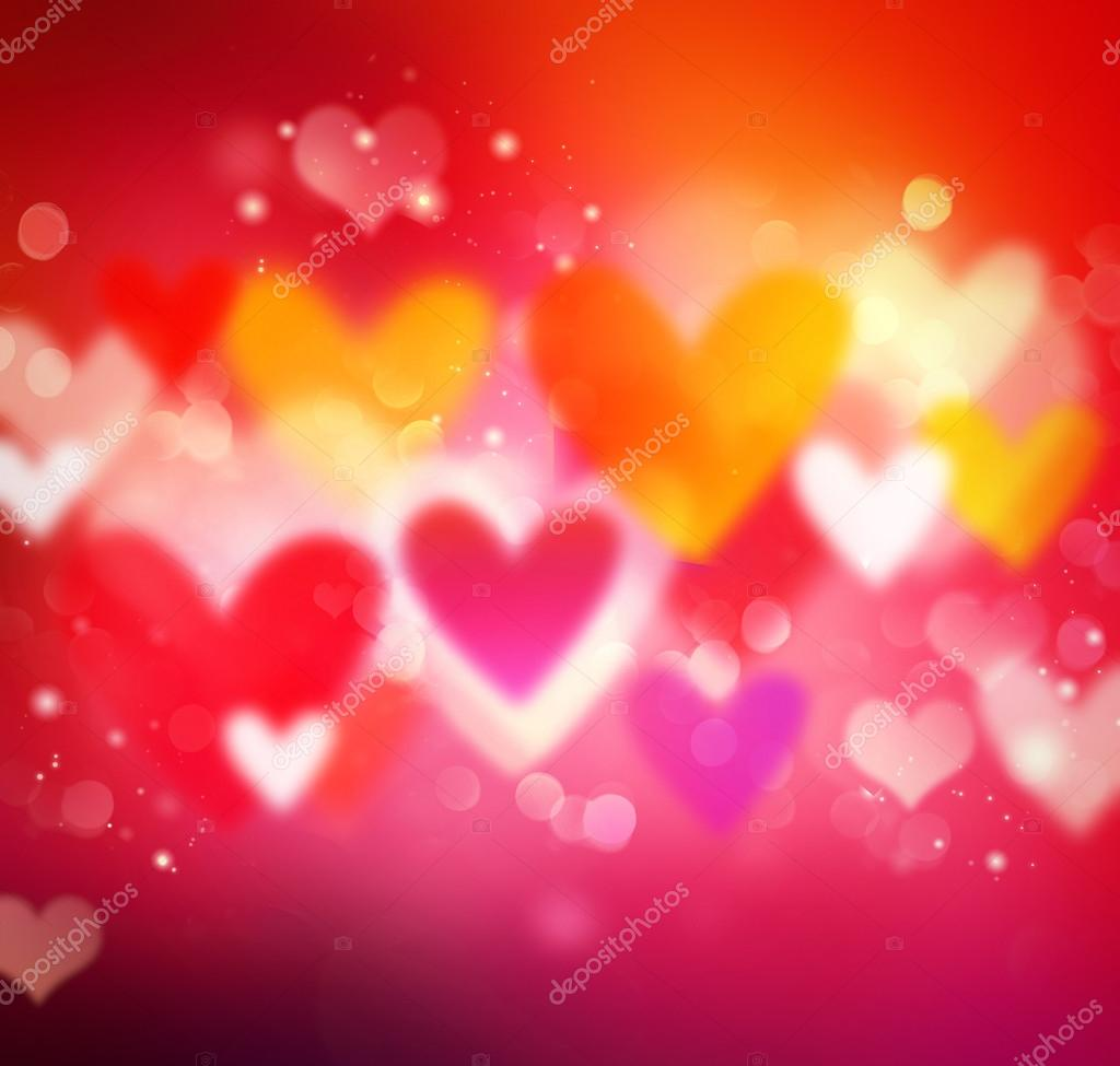 Valentines Holiday IllustrationColorful Hearts Wallpaper Stock Photo
