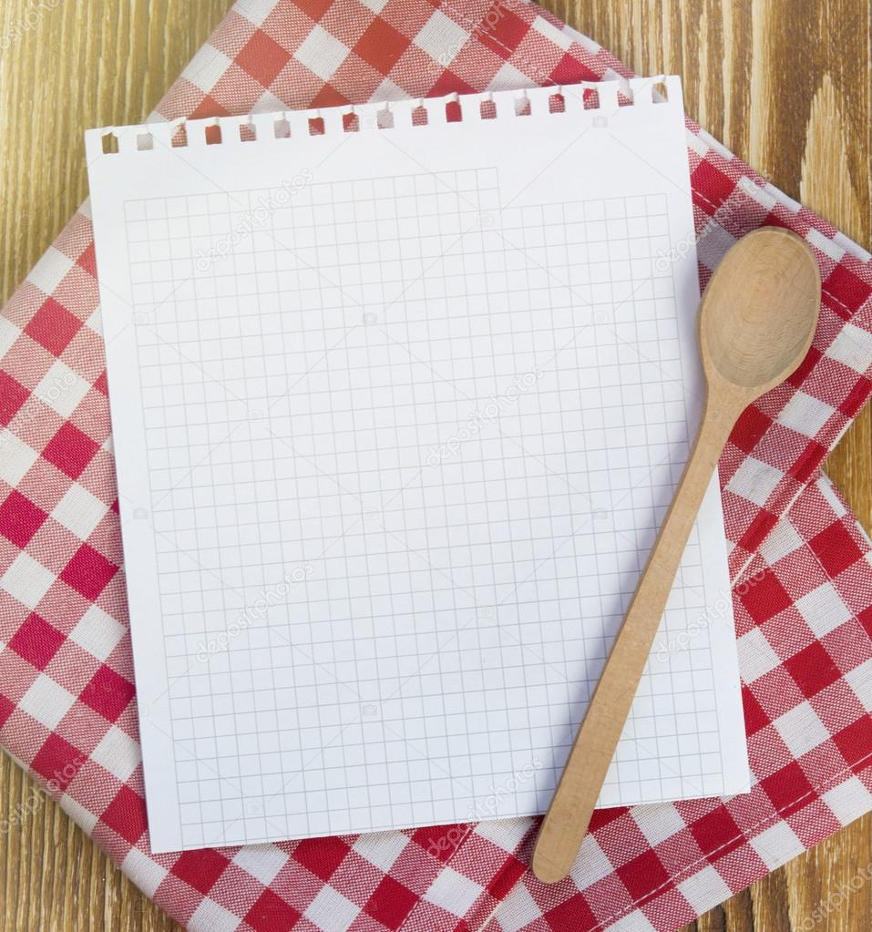recipe clean paper page for notes   u2014 stock photo  u00a9 nys