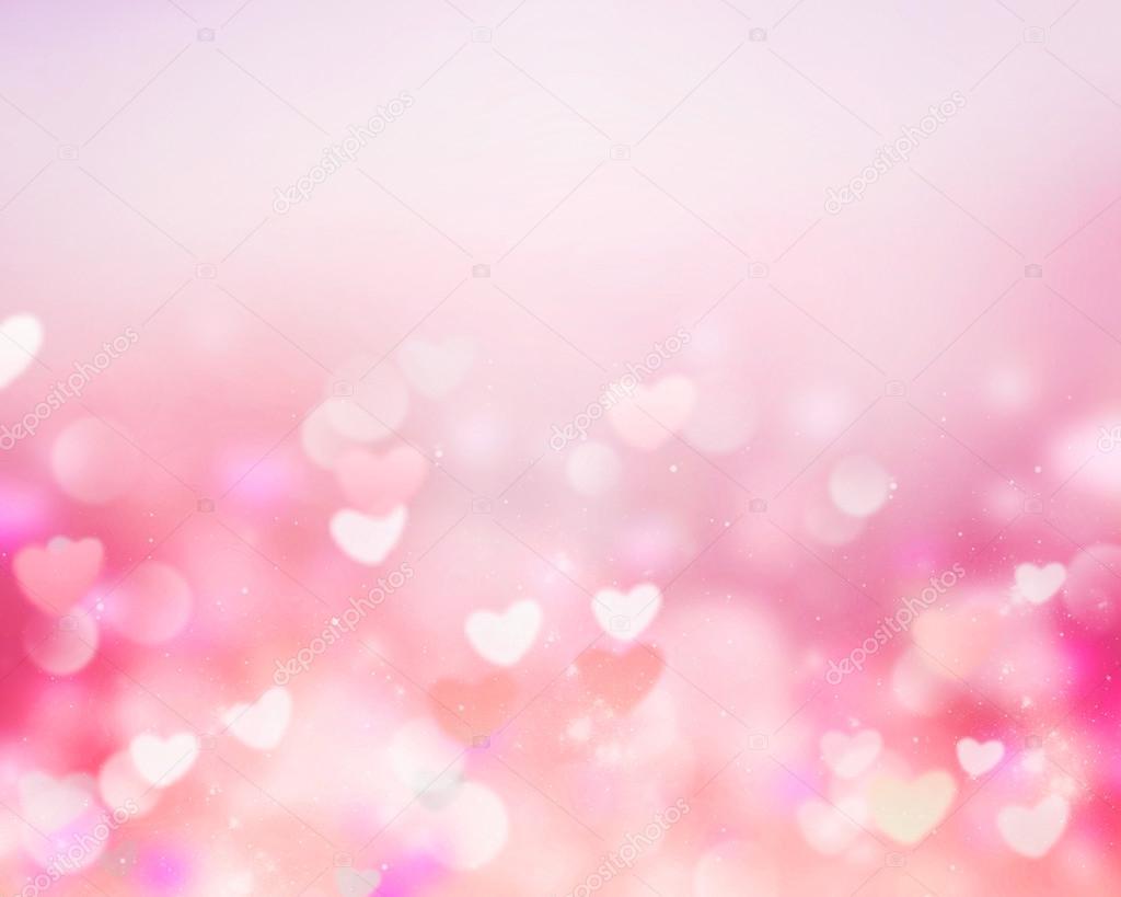valentine background pink blur hearts empty space � stock