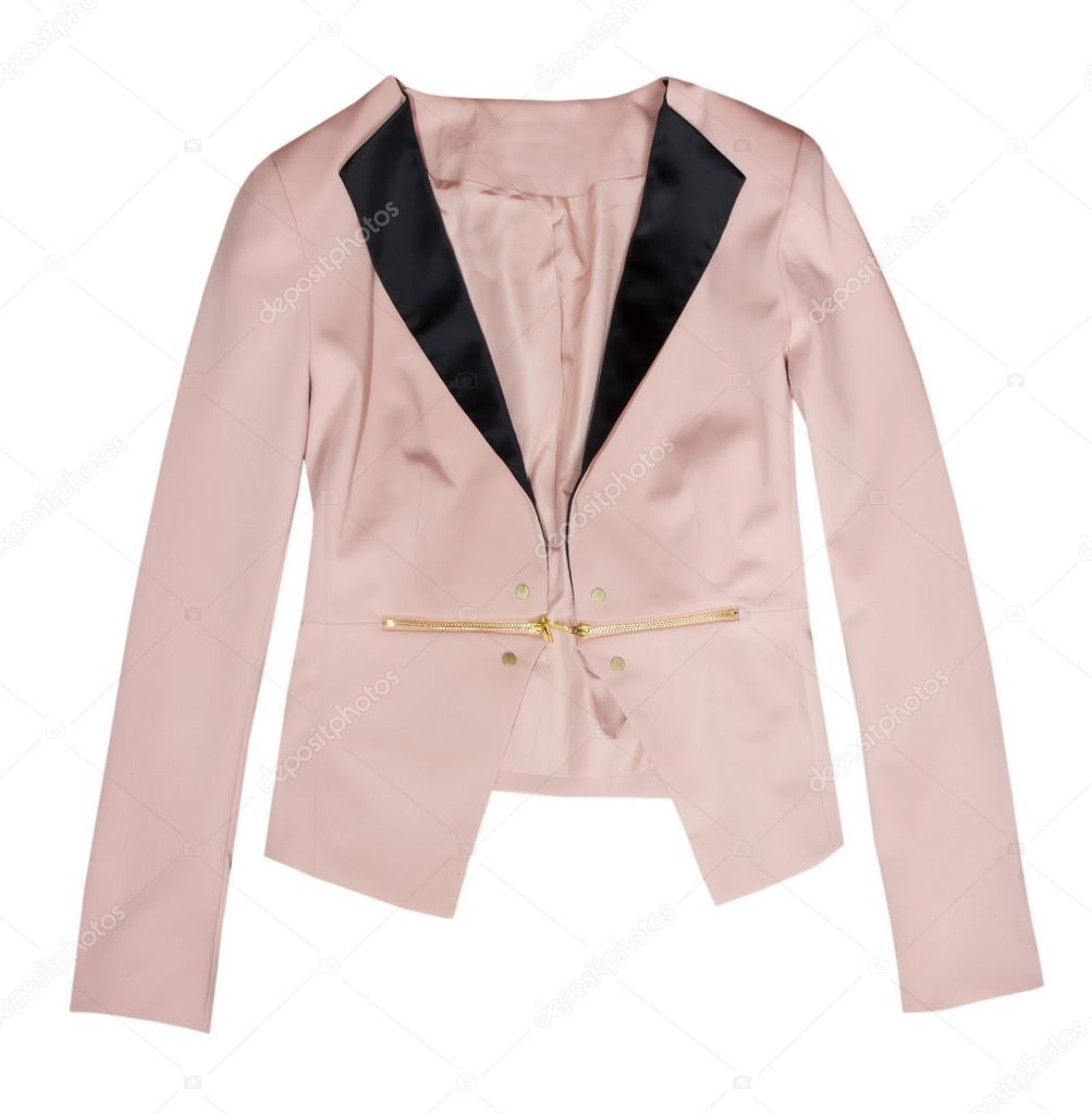 huge selection of 3332e f06e8 Rosa moda donna giacca solated su bianco. — Foto Stock © NYS ...