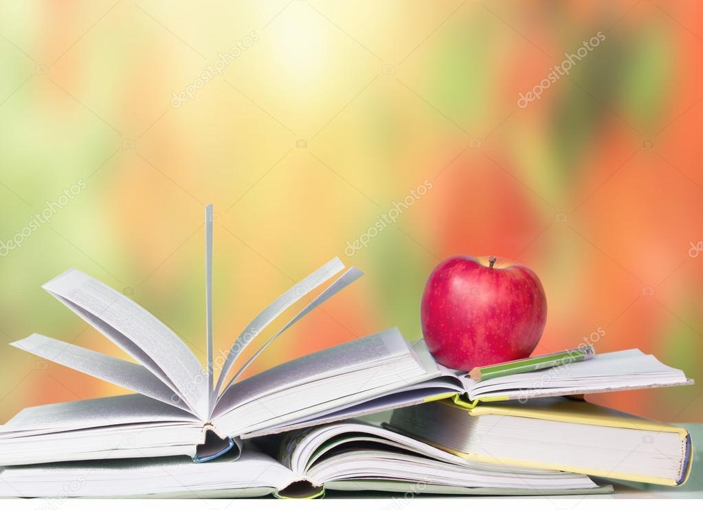 Fondo De Libros Abiertos Manzana Roja Escuela Educación