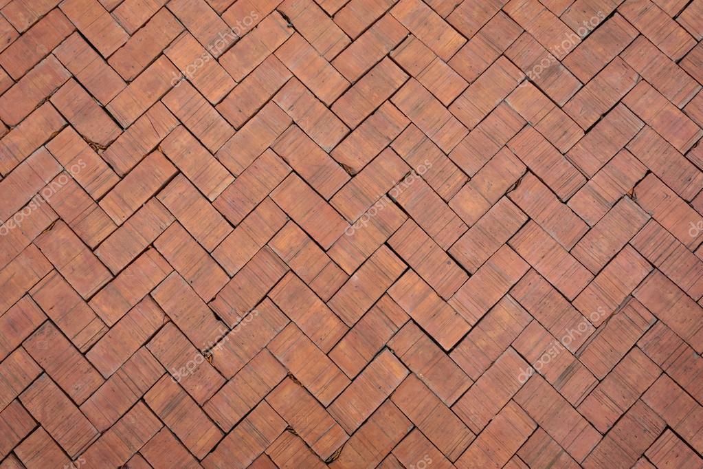 Red Brick Paving Stones Stock Photo
